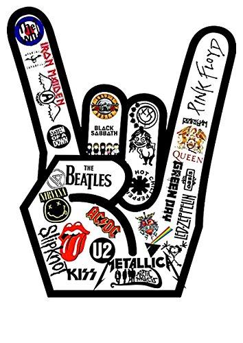 Rock Musik U2 Beatles AC DC Nirvana Metallica Queen Top Tank Shirt -2069-Grau