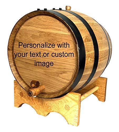 Custom Engraved 20 Liter Oak Barrels for Aging Whiskey, Rum, Tequila, Bourbon, Scotch and Wine (20 Liter)