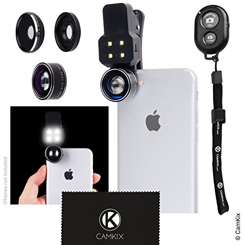 Camera Lens Kit with LED Light for Mobile Phone /
