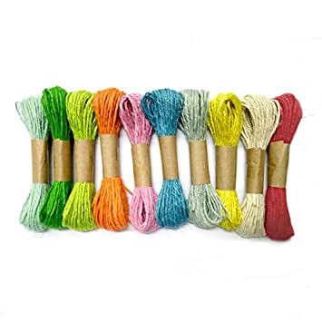 10 Colores Naturales Yute Twine Cord Twine Ideal Para Manualidades