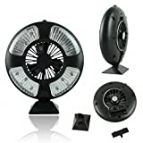 dzt1968 Premium 16 LEDs Bivouac Tent Lamp Light with Fan Great for Camping Outdoor Activities