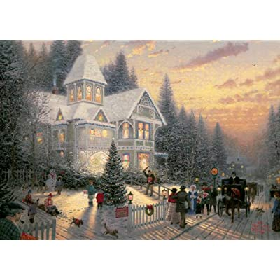 Gibsons Victorian Christmas Jigsaw Puzzle By Thomas Kinkade 1000 Pieces