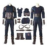 2018 Movie Avengers Infinity War Captain America Cosplay Costume for Halloween