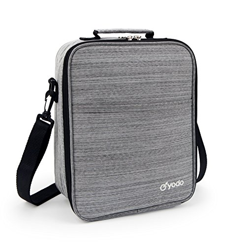 Yodo Reusable Lunch Bag Tote Large Insulated Lunch Box for Adults Men 25% LARGER Storage, Ideal for Meal Prep, Everyday Lunch to Work or School, Grey (Best Lunch Box Brands)