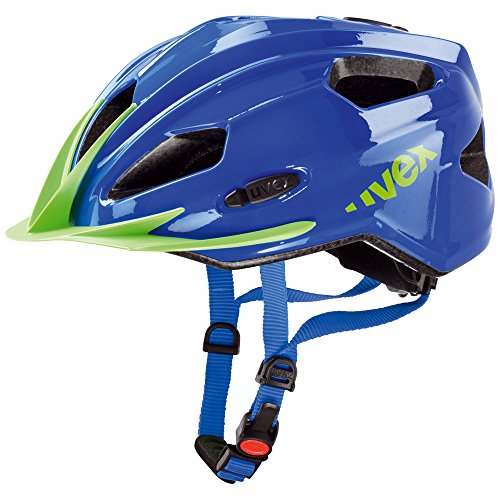 Uvex Kinder Fahrradhelm Quatro Junior, blue/green, 50-55cm, 4142570915