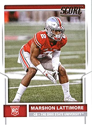 2017 Score  359 Marshon Lattimore Ohio State Buckeyes Rookie Football Card  New Orleans Saints 1st cf2d9d8c0