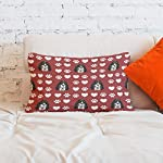 Style In Print Personalized Pillow Case Ariegeois Dog Red Paw Heart Polyester Pillow Cover 20INx28IN Design Only Set of 2 13