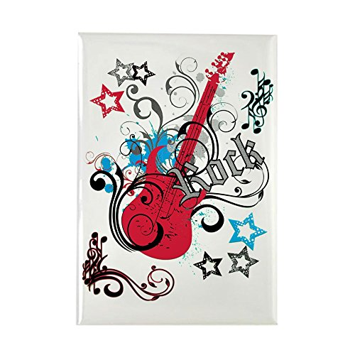 - Rectangle Magnet Rock Guitar Music Notes Treble Clef