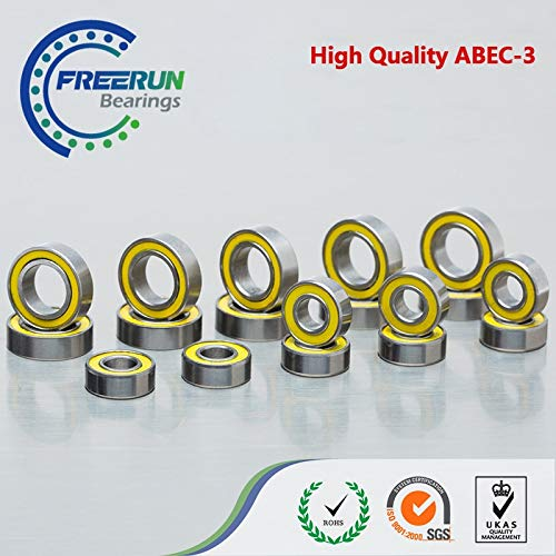 Ochoos ABEC 3 Yellow Rubber Ball Bearings for HPI CAR Savage XS Flux Mini Monster