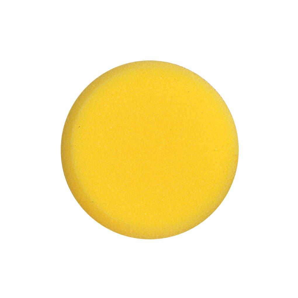 Jinzuke Pintura Redonda Esponja Amarilla Artista de los Pinceles Acuarela Esponjas para Pintura Artesan/ía Cer/ámica