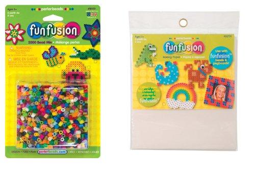 Multicolor WeGlow International WGI 2000 Craft Bead Mix and 6 Ironing Paper Sheets