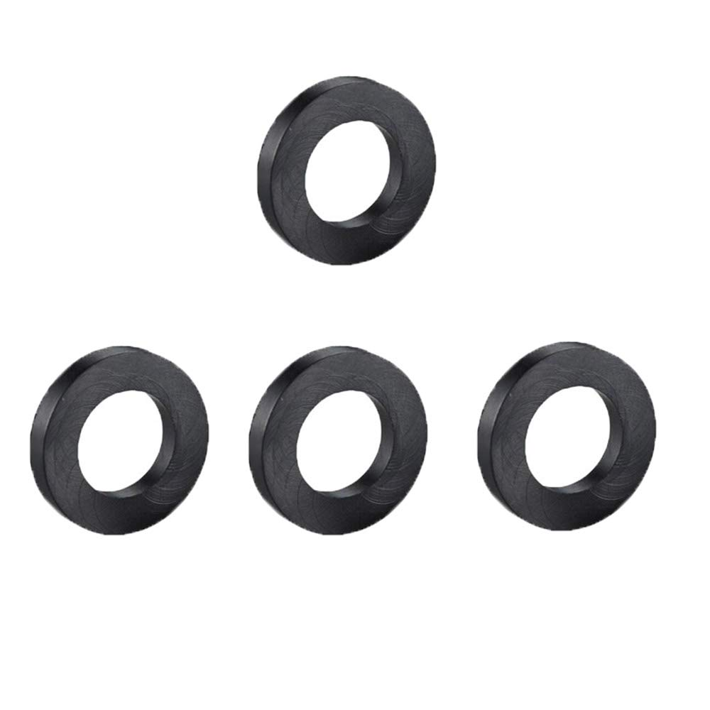 Ymiss 4 Pcs Shackle Washers for 3/4''D-Ring Shackle Reduce Rattling-Black