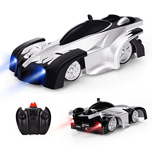 EpochAir Remote Control Car, Kid Toys for Boys Girls, Dual Mode 360°Rotating Stunt Wall Climbing Car with Remote Control, Head and Rear LED Lights, Intelligent Glowing USB Cable, Girl and Boy Gifts (Toys Car)