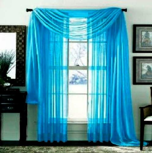 Gorgeous Home TURQUOISE CURTAIN TREATMENT