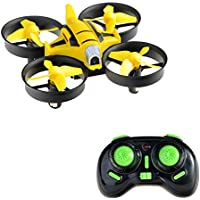 Quadcopter Mini Drone with Camera 2.4G 4CH 6 Axis Headless mode Nano Quadcopter Gyro Helicopter Wind-Resistant,yellow