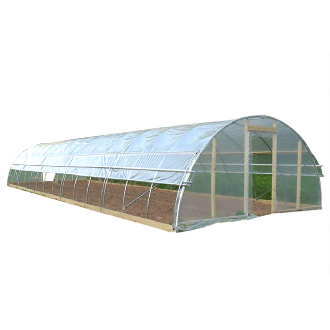 Agfabric 5.5Mil Plastic Covering Clear Polyethylene Greenhouse Film UV Resistant for Grow Tunnel and Garden Hoop, Plant Cover&Frost Blanket for Season Extension, 12x30ft