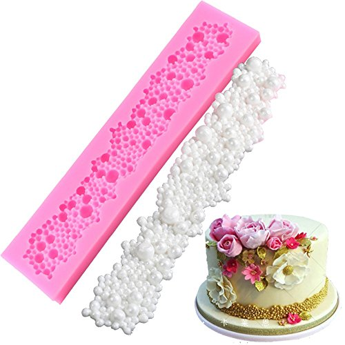 LAMEIDA Cake Mold Food Silicone Fondant Pearl Necklace Shape Muffin Chocolate Sweet Mould Cake Jelly Ice Sugarcraft Soap Silicone Fondant Mould Cake DIY Pop Maker Baking Decorating Tools