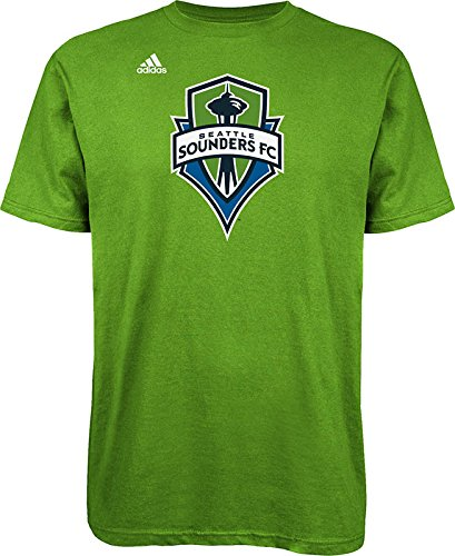 adidas MLS Seattle Sounders FC Logo Men's Set Tee, Large, Rave Green