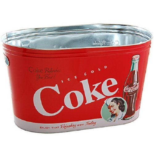 COCA COLA Coke Large Oval Party Tub, Model: 77046-4, Home & Garden (Coca Cola Garden)