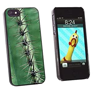 phone covers Graphics and More Green Cactus Skin and Thorns - Snap-On Hard Protective Case for Apple iPhone 5c - Non-Retail Packaging - Black