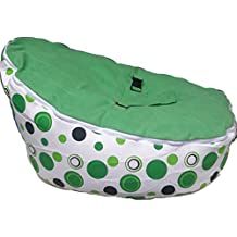 BABYBOOPER BEANBAG SOFT BABY COZY BABY SITTING CHAIR NURSERY PILLOW SAFE (BOOPER GREEN APPLE FIZZY)