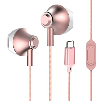 Amazon.com: Auriculares USB tipo C, auriculares estéreo con ...