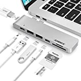 USB C Hub, ANBES USB C Adapter for MacBook Pro/USB-C Port/4K/SD Card Reader/2xUSB 3.0 Type-A Ports