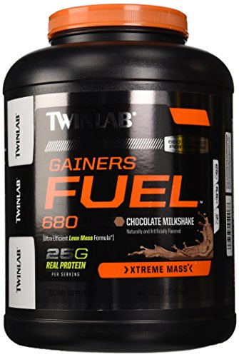 Twinlab Gainers Fuel 680 Milkshake, Chocolate, 6.17 Pound