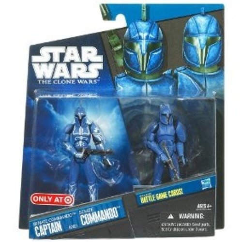 Hasbro Star Wars Clone Wars 2010 Senate Commando Captain & Senate Commando Action Figure 2-Pack