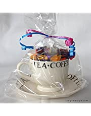 "Wrappings and Bows Extra Large Gusseted Clear Cellophane Gift Bags 14"" x 8.5"" x 3"" (36.5cm x 22cm x 8cm)"