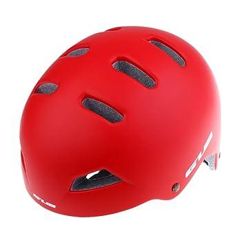 Sharplace Casco Ultraligero Ciclomotor Seguridad Ajustable Ultra Ligero Transpirable Cómoo Accesorio Ciclismo - Rojo, Metro