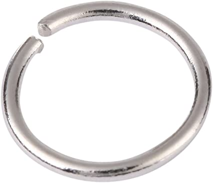 20 PI Antique Silver Silver Open Jump Rings 8mm Diameter 18 Gauge Wire Jewelry