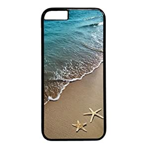 "Beach Starfish Theme Case for iPhone 6 Plus (5.5"") PC Material Black"