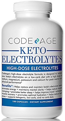Keto Electrolyte Capsules – 180 Count – Energy Supplement for a Low Carb Diet or Keto Diet, Rehydration & Recovery, Eliminates Fatigue and Promotes Weight Loss! Sodium, Calcium, Potassium & Magnesium