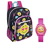 Emoji 17'' Backpack & Girls Pink Watch - Kids