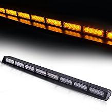 "TURBOSII 32 LED 34"" Traffic Advisor Emergency Warning Directional Light Bar Kit Vehicle Strobe Flash Mini Interior LED Dash Light Bar,YELLOW"