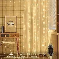 Lichterkette Weihnachtsbaum, BIGHOUSE 3m x 3m 306 LED Lichtervorhang mit 8 Modi, Speicherfunktion, Wasserdichte IP44 für...