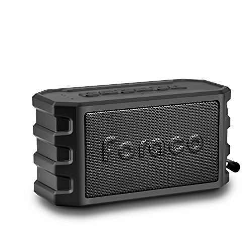 Bluetooth Speaker, Foraco Portable Wireless Stereo Bluetooth 4.2 Speakers with Bike Holder, 24 Hours Playtime, Powerbank Function, Enhanced Bass, IP65 Waterproof, Dustproof, TF Card Support - Black - Subwoofer Golf