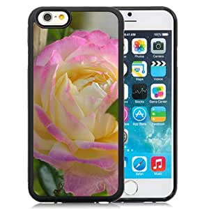 "Beautiful iPhone 6 4.7"" TPU Cover Case ,Beautiful Rose Macro Black iPhone 6 4.7"" TPU Phone Case Unique And Durable Designed Screen Case"