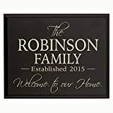 Personalized Family Established Year Signs, Custom Established Family Name Sign Welcome to Our Home Engraved with Family Name and Date Established By LifeSong Milestones (Black, 9x12)