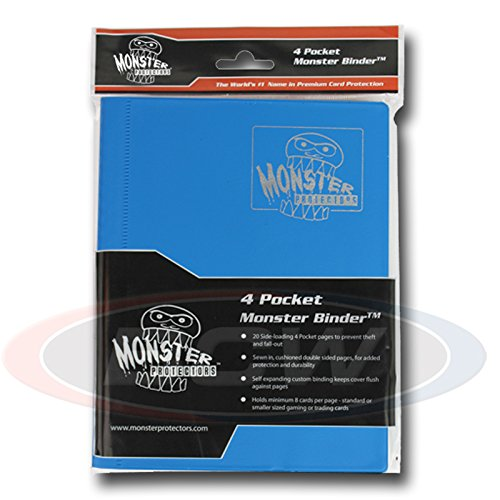 - Monster Protector MB-4P-MAB 4-Pocket - Matte Aqua Blue