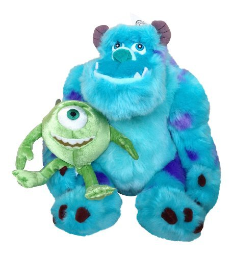 Disney Parks Exclusive Monsters Inc. Sulley & Mike Large Plush Set of -