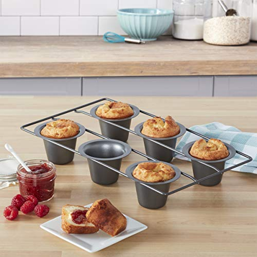 Chicago Metallic Professional 6-Cup Popover Pan, 15.5-Inch-by-9-Inch by Chicago Metallic (Image #1)