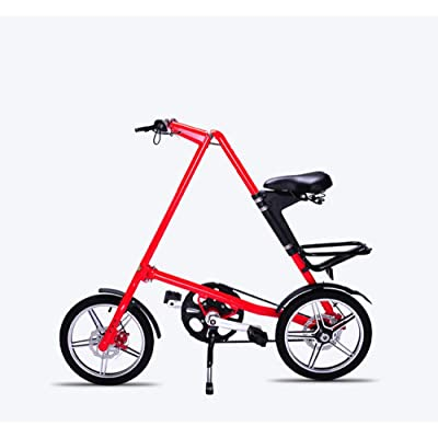 LINGS Foldable Bicycle Kids' Bikes 14 inch Adult Folding Bicycle Aluminum Alloy Children's Bicycle 16 inch Ladies Folding Scooter: Home & Kitchen