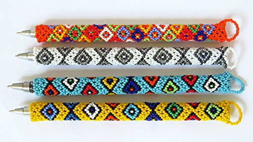 SPECIAL OFFER!! African Zulu beaded Pen, gift from Africa – Set of 10 (Beaded Pen)