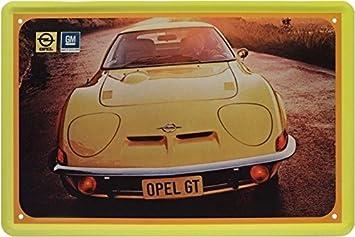 Blechschild 20x30 Cm Opel Gt Kult Auto Youngtimer 70er Jahre Metall