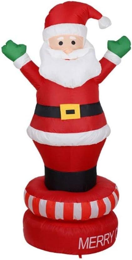 HOBBMS Santa Claus Navidad iluminado inflable Permanente sobre la ...
