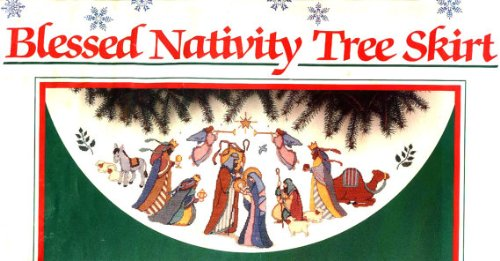 Cross Stitch - Blessed Nativity - Tree Skirt Kit by Karen Avery (1989)