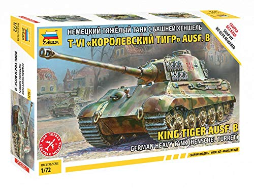 German King Tiger Ausf B Henschel Turret Heavy Tank (Snap) 1/72