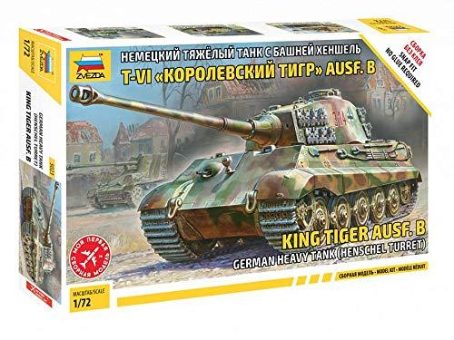 Zvezda 5023 - 1/72 German King Tiger Ausf B Henschel Turret Heavy Tank (Snap)